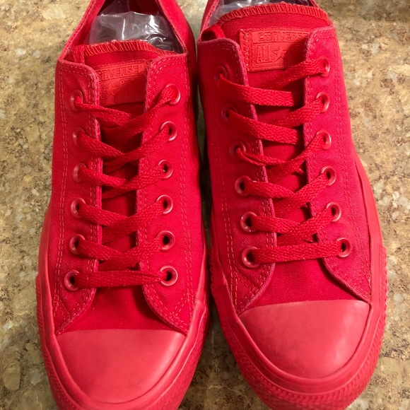 Converse Shoes | Solid Red | Poshmark